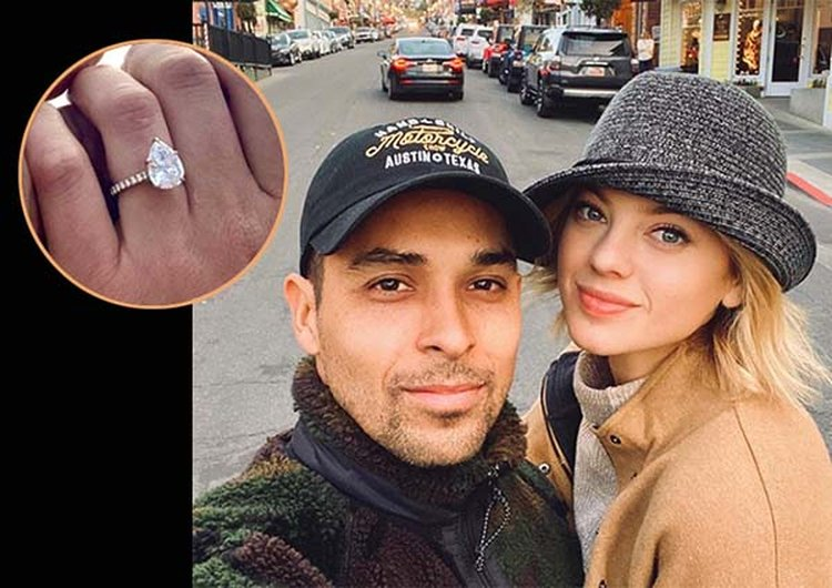 Actor Wilmer Valderrama Proposes to Model Amanda Pacheco With Pear-Shaped Diamond